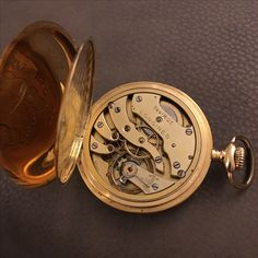 Longines pocket watch Lepine style Gold 18K cal. 18.89 year 1919