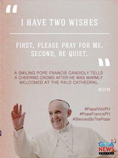 #PopeFrancis #PopeTYSM