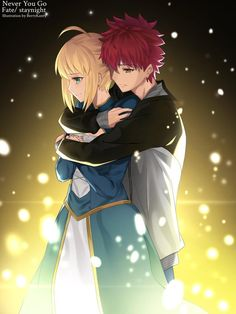 Emiya Shirou x Saber Saber X Shirou, Shirou Emiya, Fate Stay Night Series, Fate Stay Night Anime, Chica Anime Manga, Anime Couples Manga, Anime Girls, Fate Zero, Armin