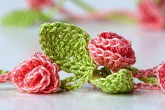 Crochet Rose Garden Necklace