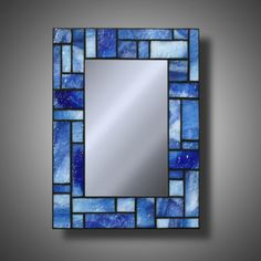 Hey, I found this really awesome Etsy listing at https://www.etsy.com/listing/183479811/blue-stained-glass-mosaic-mirror-made
