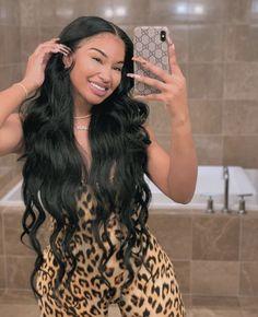 Long Curly Hair, Curly Hair Styles, Natural Hair Styles, Hair Inspo, Hair Inspiration, Karin Jinsui, Pretty Black Girls, Braids With Weave, Girls Braids