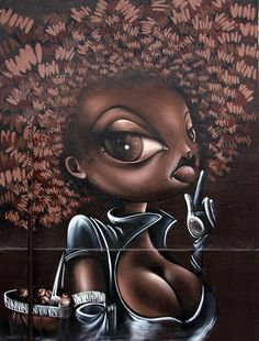Picture of Characters by Vinie - Paris (France) Urban Street Art, Best Street Art, Urban Art, African American Art, African Art, Photomontage, Caricatures, Black Art Pictures, Black Artwork