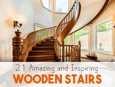 Wooden stairs are luxurious and elegant. Check out these 21 wooden stairs designs that are absolutely mesmerizing and inspiring! Easy Woodworking Ideas, Woodworking Inspiration, Beginner Woodworking Projects, Learn Woodworking, Woodworking Toys, Entryway Stairs, Rustic Stairs, Wooden Stairs, Stair Landing Decor