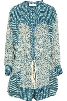 Étoile Isabel Marant|Hana printed cotton-voile playsuit|NET-A-PORTER.COM