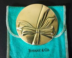 Vintage rare Tiffany pocket mirror for sale from JaggedPearl www.etsy.com/shop/jaggedpearl