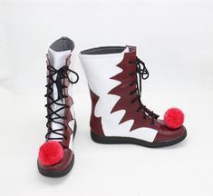 592bab205a New Cosplay It Pennywise Boots Carnival Clown Boots Halloween Shoes~.