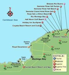 Tourist Map Of Montego Bay Montego Bay Jamaica Mappery - Sunset beach resort jamaica map