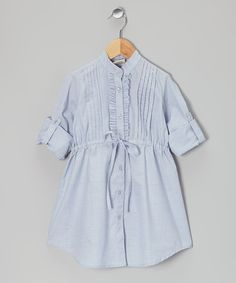 Take a look at this Light Blue Shirt Dress - Toddler & Girls on zulily today!