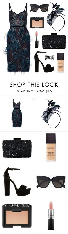 """Race Day Ready"" by tasha-m-e ❤ liked on Polyvore featuring Notte by Marchesa, Oscar de la Renta, Laura Mercier, Steve Madden, CÉLINE, NARS Cosmetics, MAC Cosmetics and Bling Jewelry"