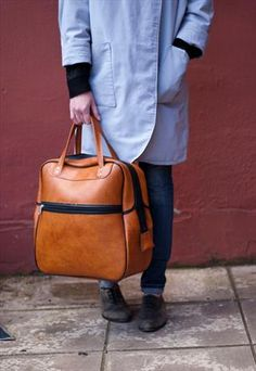 70s Tan Oversized Holdall