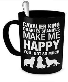 Cavalier King Charles Spaniels Mug Cavalier King Charles Span Make Me Happy * Check out the image by visiting the link.