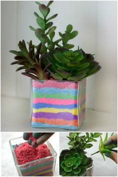 Diy sand art craft ideas - Little Piece Of Me colored sand for terrarium Diy For Teens, Crafts For Teens, Diy And Crafts, Arts And Crafts, Diy Tie Dye Projects, Craft Projects, Sand Art Crafts, Vase Crafts, Diy Colored Sand