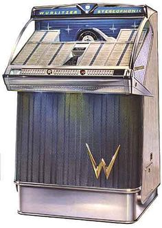 Wurlitzer 2300, year 1959, selections 200, 45 rpm. First stereo. Also 2310, 100 sel.
