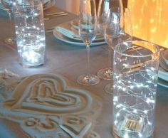 Martini Glass Centrepieces On Pinterest Fairy Lights