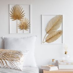 Gold-Colour and White Metal Foliage Artwork 28 x 39 cmHome Decoration on Maisons du Monde. Take a look at all the furniture and decorative objects on Maisons du Monde. Metal Wall Decor, Diy Wall Art, Gold Wall Decor, Home Crafts, Diy Home Decor, Diy Wand, Tropical Decor, Wall Design, Home Accessories