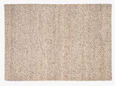 OATMEAL NEUTRAL Wool blend Large textured wool rug 170 x 240cm - HabitatUK
