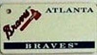 """This is an MLB Atlanta Braves Team License Plate Key Chain or Tag. An excellent and affordable gift for an avid MLB fan! The key chain is available with engraving or without engraving. It is a standard key chain made of durable plastic and size is approximately 1.13"""" x 2.25"""" and 1/16"""" thick."""