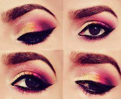 Pink + Yellow Eyeshadows
