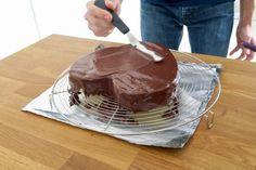Fondant noix de coco et chocolat   Dans la famille Cuisine, je voudrais... Chiffon Cake, Cakes And More, Food Art, Mousse, Panna Cotta, Biscuits, Cheesecake, Food And Drink, Menu