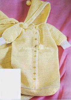 Вязание для новорожденных. Конверт и плед