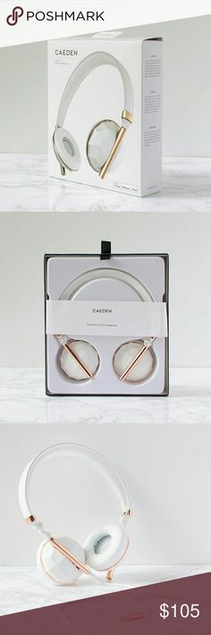 Last chance! Caeden Linea Rose Gold Headphones Brand new in packaging! Caeden Linea No. 1 Faceted Ceramic & Rose Gold On-Ear Headphones Caeden Linea  Accessories