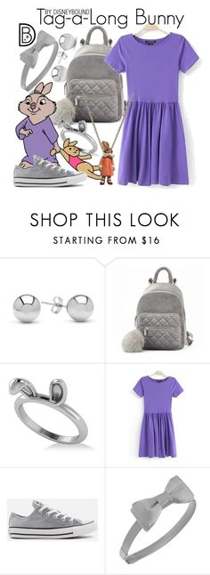 """""""Tag-a-long Bunny"""" by leslieakay ❤ liked on Polyvore featuring Jewelonfire, Allurez, Disney, Converse, L. Erickson, disney, disneycharacter and disneystyle"""