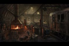 Forge Shed, Mac Smith on ArtStation at https://www.artstation.com/artwork/forge-shed