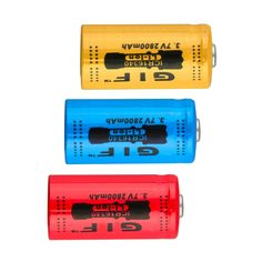 >> Click to Buy << 4pcs/lot GTL Universal 16340 3.7V 2800mAh Rechargeable Batteries Li-ion Battery Red Yellow Blue Wholesale #Affiliate