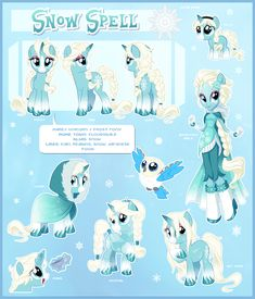 Snow Spell Ultimate Reference Guide by Centchi.deviantart.com on @DeviantArt