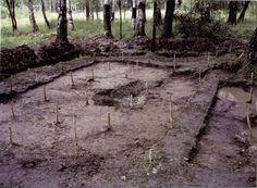 Excavated grave of Alexsei and Anastasia Aug 2007.