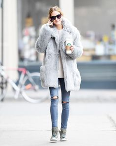 The Olivia Palermo Outfit You'll Wear on Every Starbucks Run via @WhoWhatWear
