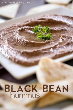 Black Bean Hummus. This could possible be the best hummus recipe ever! It is SO good and jam-packed with flavor!