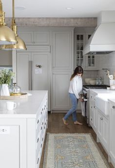 The New Neutral Paint Color For Kitchens, When You Don't Want White - 17 gray kitchens with paint sources