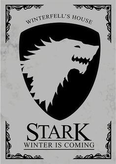 House Stark - Game of Thrones - Séries | Posters Minimalistas