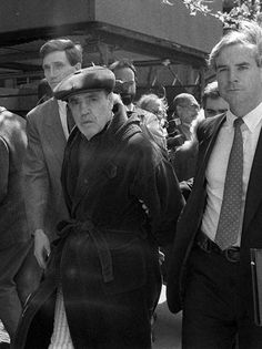 """1997 Photo by John Sotomayor / The New York Times Genovese family boss Vincent """"Chin"""" Gigante, known as the """"Oddfather"""" for his trick of pretending to be mentally ill, is finally convicted on racketeering charges."""