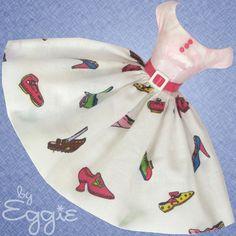 Shoe In! - Vintage Barbie Doll Dress Reproduction Repro Barbie Clothes