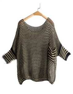 Shop Black Metallic Yarn Open Ribbon Knit Batwing Sleeve Jumper online. SheIn offers Black Metallic Yarn Open Ribbon Knit Batwing Sleeve Jumper & more to fit your fashionable needs.