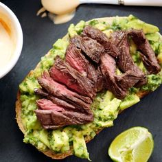 Grilled Steak, Avocado, and Spicy Crema Sandwiches