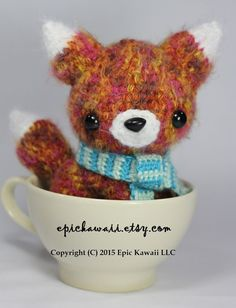 PATTERN 3-PACK: Red Fox Pup Brown Bear Cub and Red by epickawaii