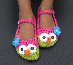 Owl slippers by Tanya McMullin