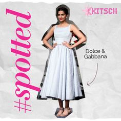 #Kitsch #Spotted Sonam Kapoor looking elegant in a Dolce & Gabbana Blue Brocade dress. http://www.kitsch.in/