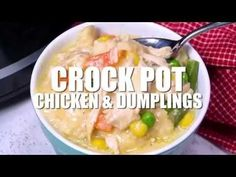 This crockpot chicken and dumplings recipe is creamy, hearty and delicious with a to-die-for gravy and the perfect balance of protein and vegetables. Barbecue Recipes, Grilling Recipes, Slow Cooker Recipes, Crockpot Recipes, Best Chicken Recipes, Bacon Recipes, Crockpot Chicken And Dumplings, Dumpling Recipe, Vegetable Dishes