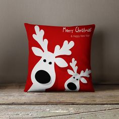 Holiday Pillows | Christmas Pillows | Christmas Cushion | Christmas Decorations | Reindeer Decorations by wfrancisdesign on Etsy https://www.etsy.com/listing/249700200/holiday-pillows-christmas-pillows