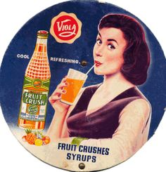 Cardboard blade of a hand-fan showing the 1930 advertisement of Viola fruit crush. From the Priya Paul collection, New Delhi; Seen in this article on TasveerGhar Vintage Signs, Vintage Ads, Vintage Posters, Fruit Crush, Colonial India, India Independence, Vintage Bollywood, Popular Art, Pre And Post