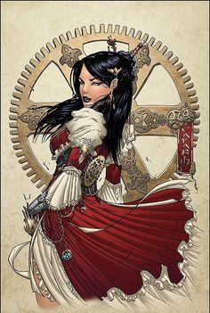 Lady Mechanika - Hot Digital Illustrations by Sean Ellery