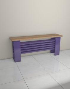Hallway. Aqua Desk - 4 column bench radiator - £450