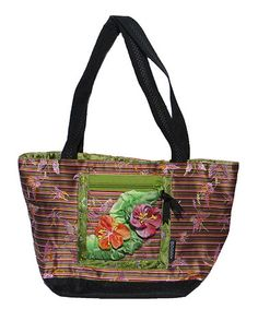 Take a look at this Green Stripe Plumeria Mini Tote by Goody Goody on ...