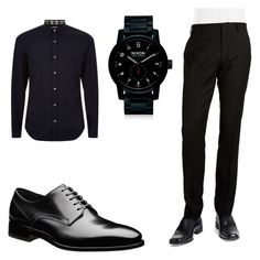 """""""Untitled #7"""" by malexxus on Polyvore featuring Burberry, BLACK BROWN 1826, Nixon, men's fashion and menswear"""