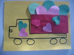Valentine's Day Dump Truck Craft